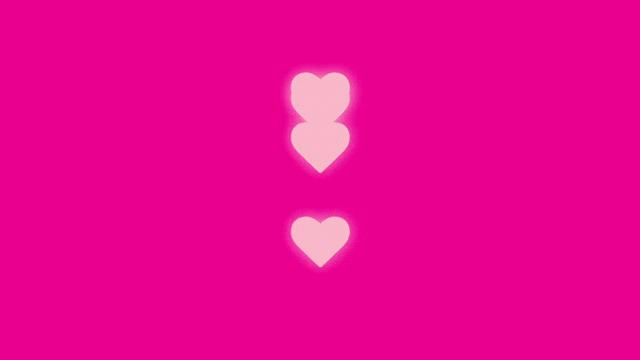 four hearts with up-down animation