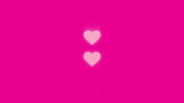 four hearts with up-down animation and fading effect