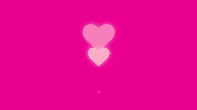 four hearts with up-down animation, fading effect and scaling animation